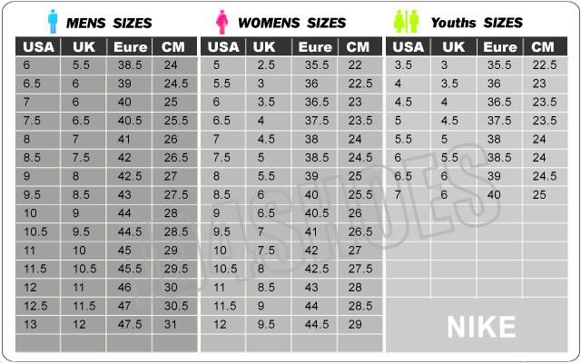 nike free size