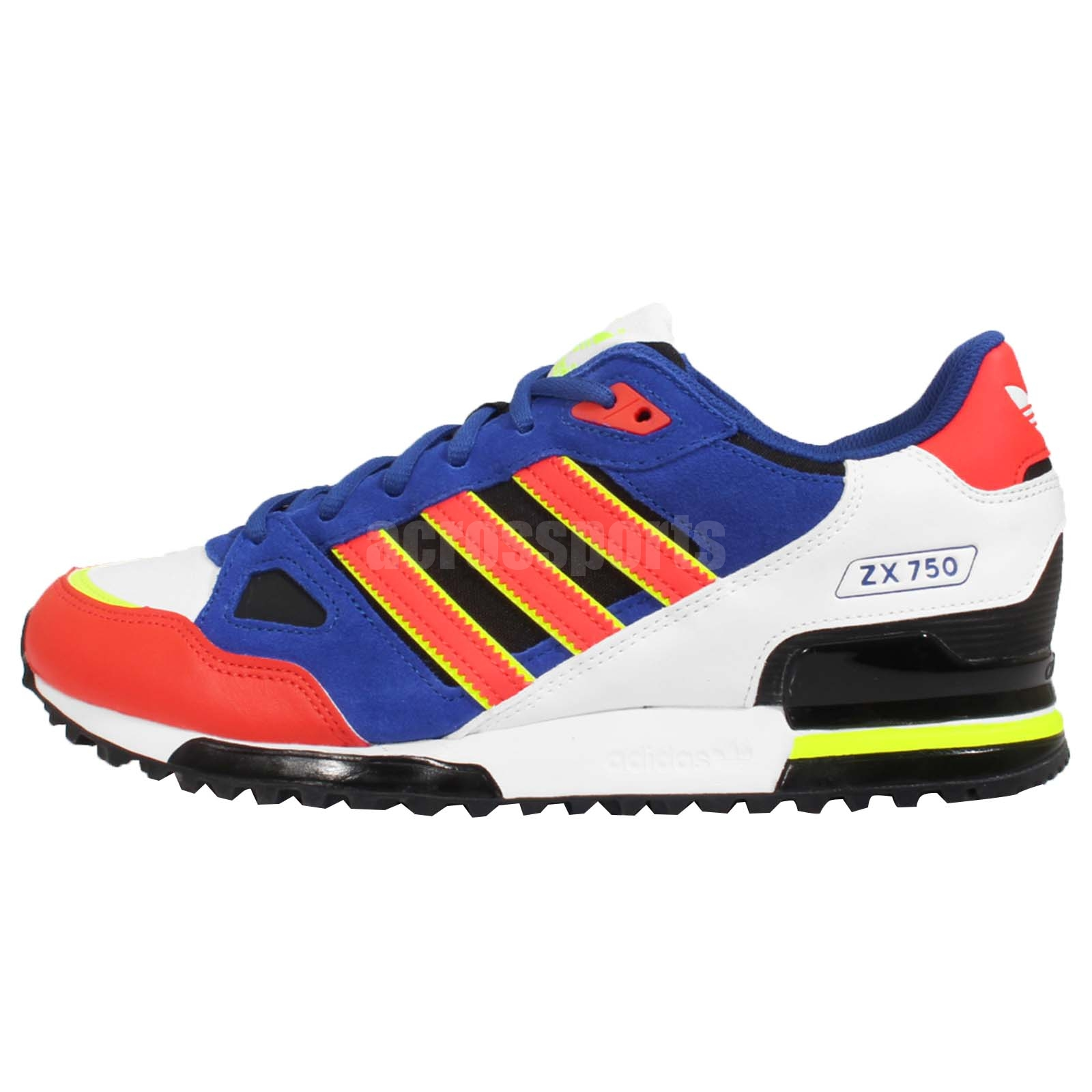 adidas originals zx 750 navy red yellow mens retro running. Black Bedroom Furniture Sets. Home Design Ideas