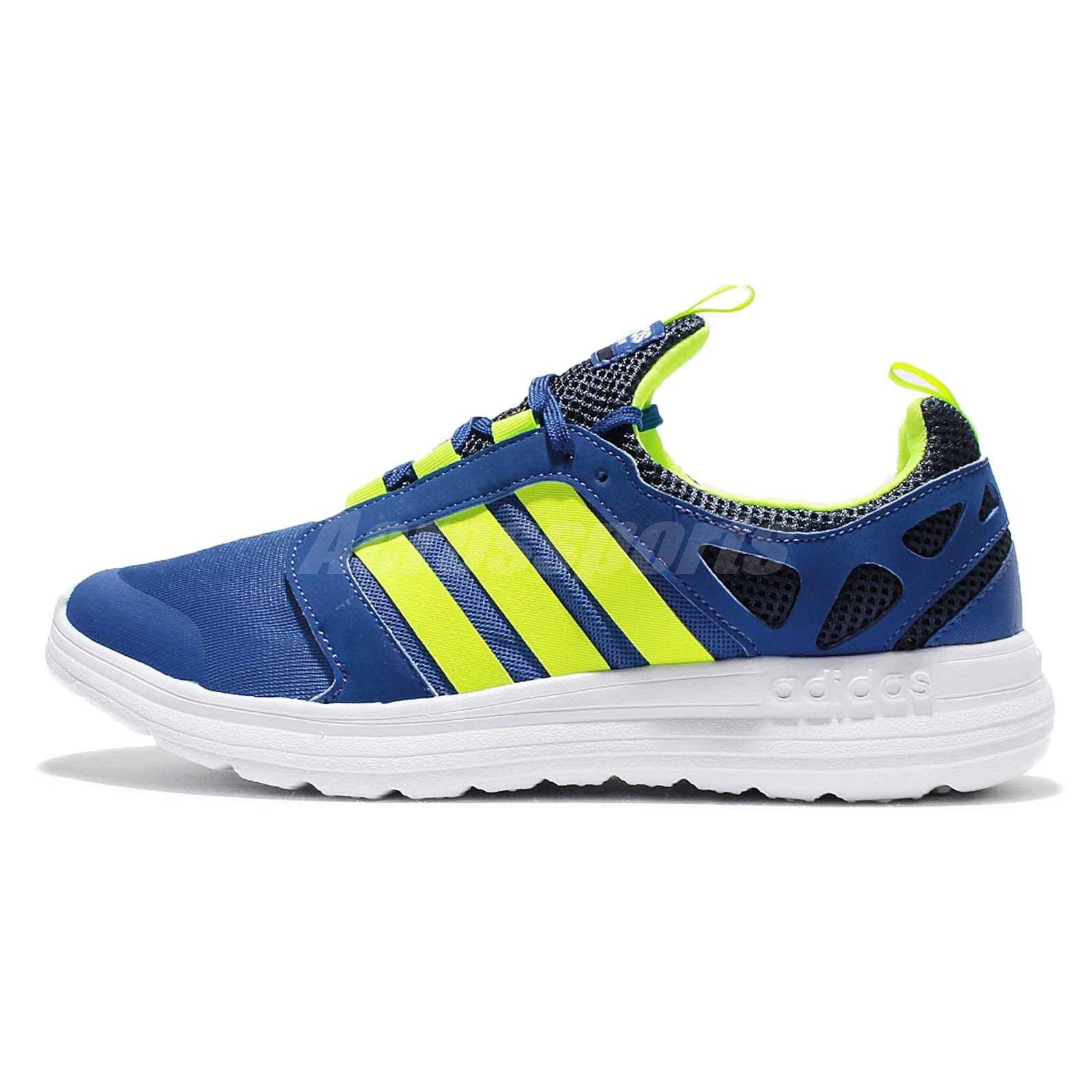 adidas neo label cloudfoam sprint blue volt mens running. Black Bedroom Furniture Sets. Home Design Ideas