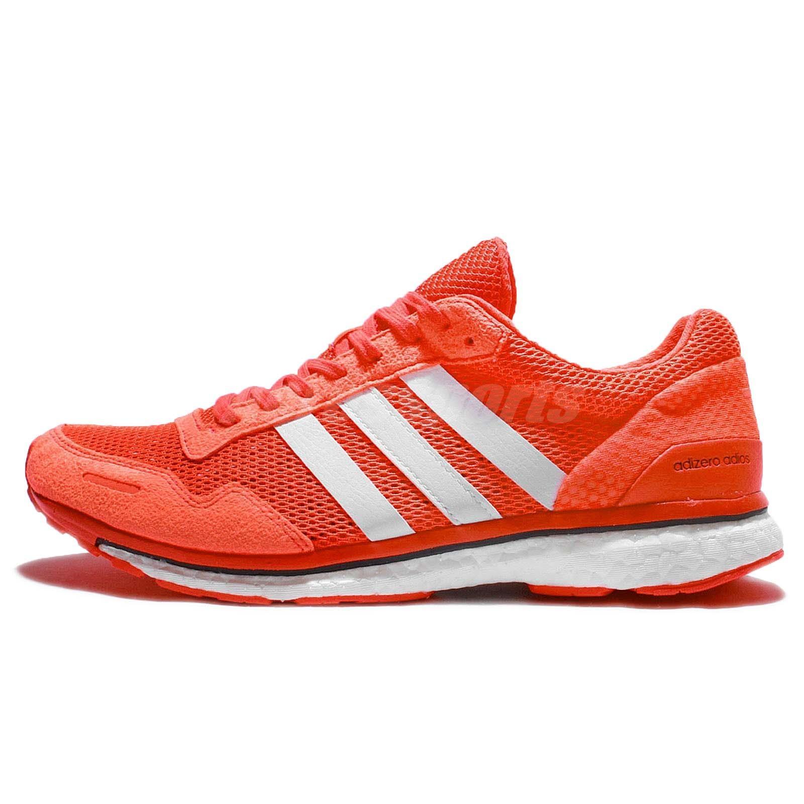 adidas adizero adios 3 m continental boost orange white men running shoes aq2429. Black Bedroom Furniture Sets. Home Design Ideas