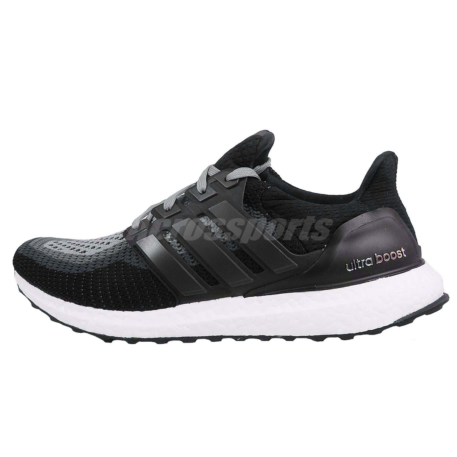 adidas Ultra Boost M Black Grey White Mens Running Shoes ...
