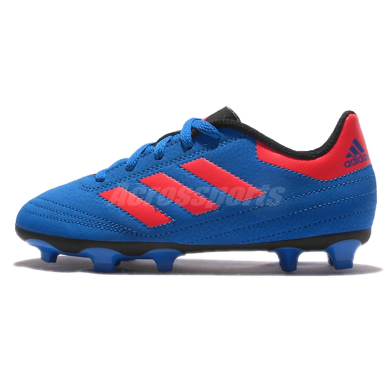 adidas goletto vi fg j blue red kids junior soccer shoes. Black Bedroom Furniture Sets. Home Design Ideas