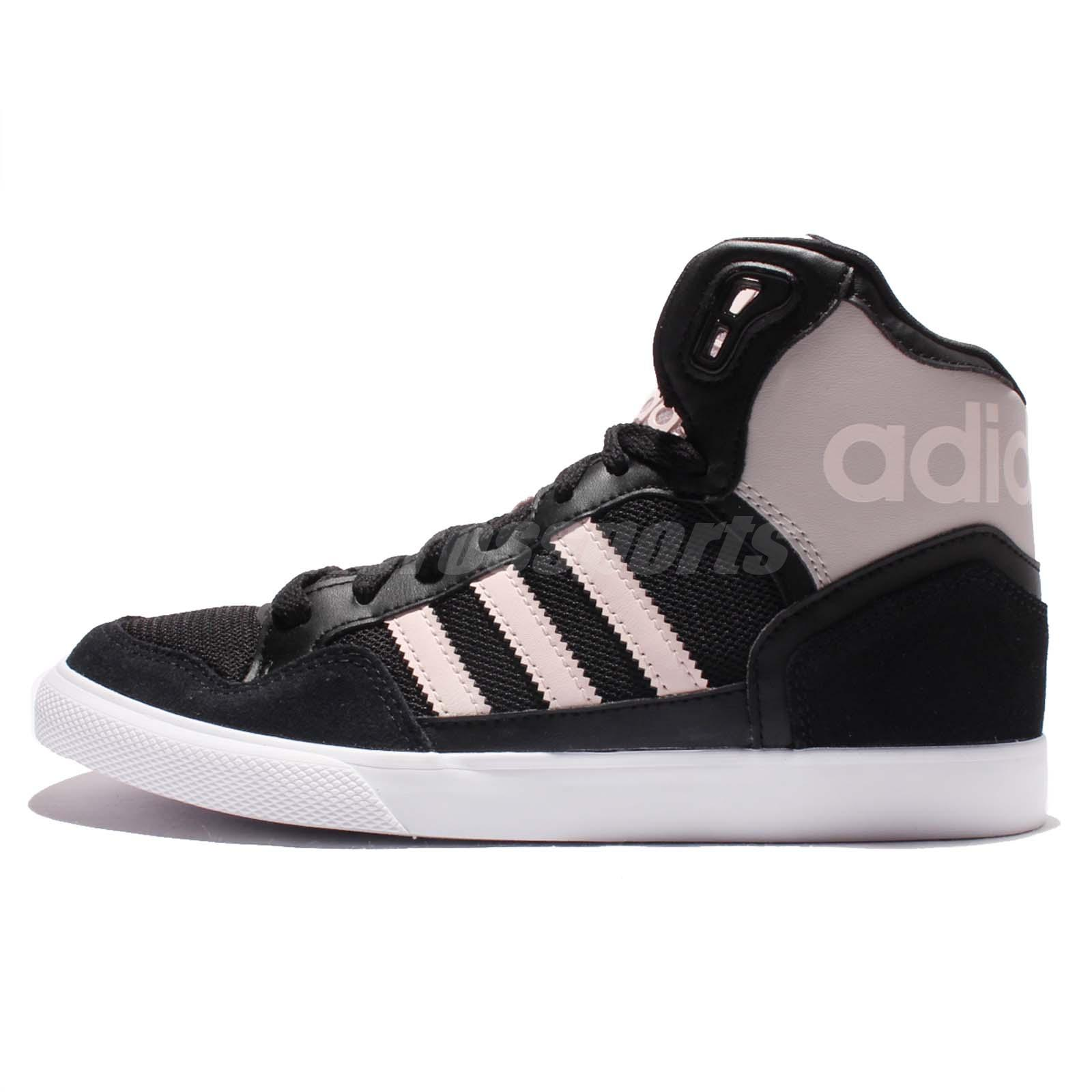 adidas Originals Extaball W Black Grey Pink Womens Wedges Casual Shoes AQ4798