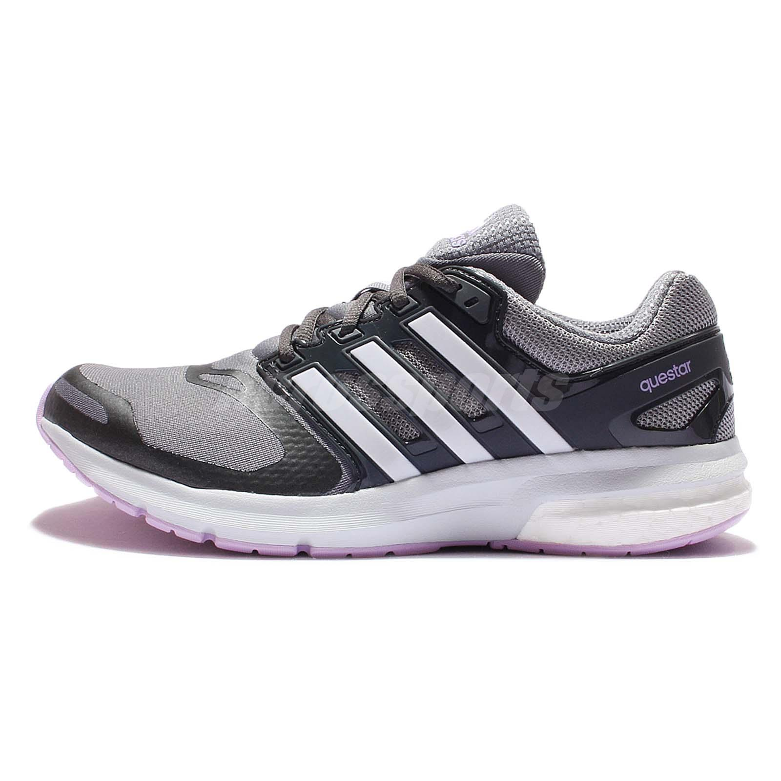 adidas Questar TF W Torsion Grey Purple Womens Running Trainers Sneakers AQ6635