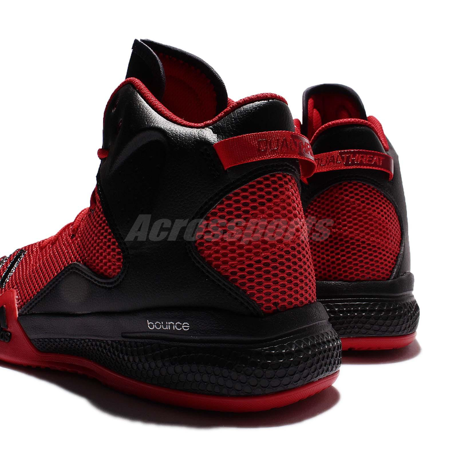 adidas red and black basketball shoes