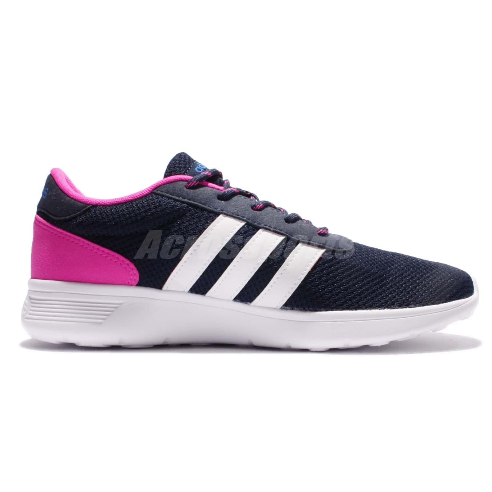 adidas neo label lite racer w navy pink white women. Black Bedroom Furniture Sets. Home Design Ideas