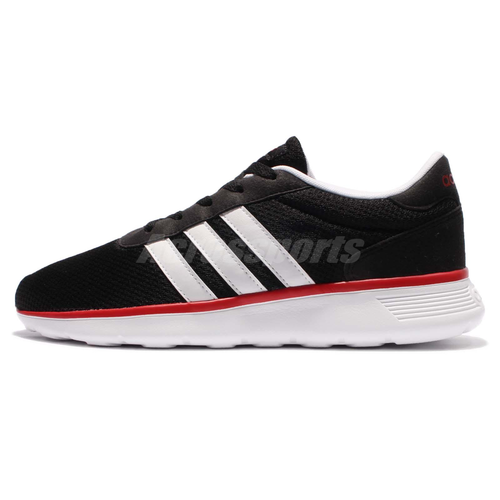 adidas neo label lite racer black white red men running. Black Bedroom Furniture Sets. Home Design Ideas