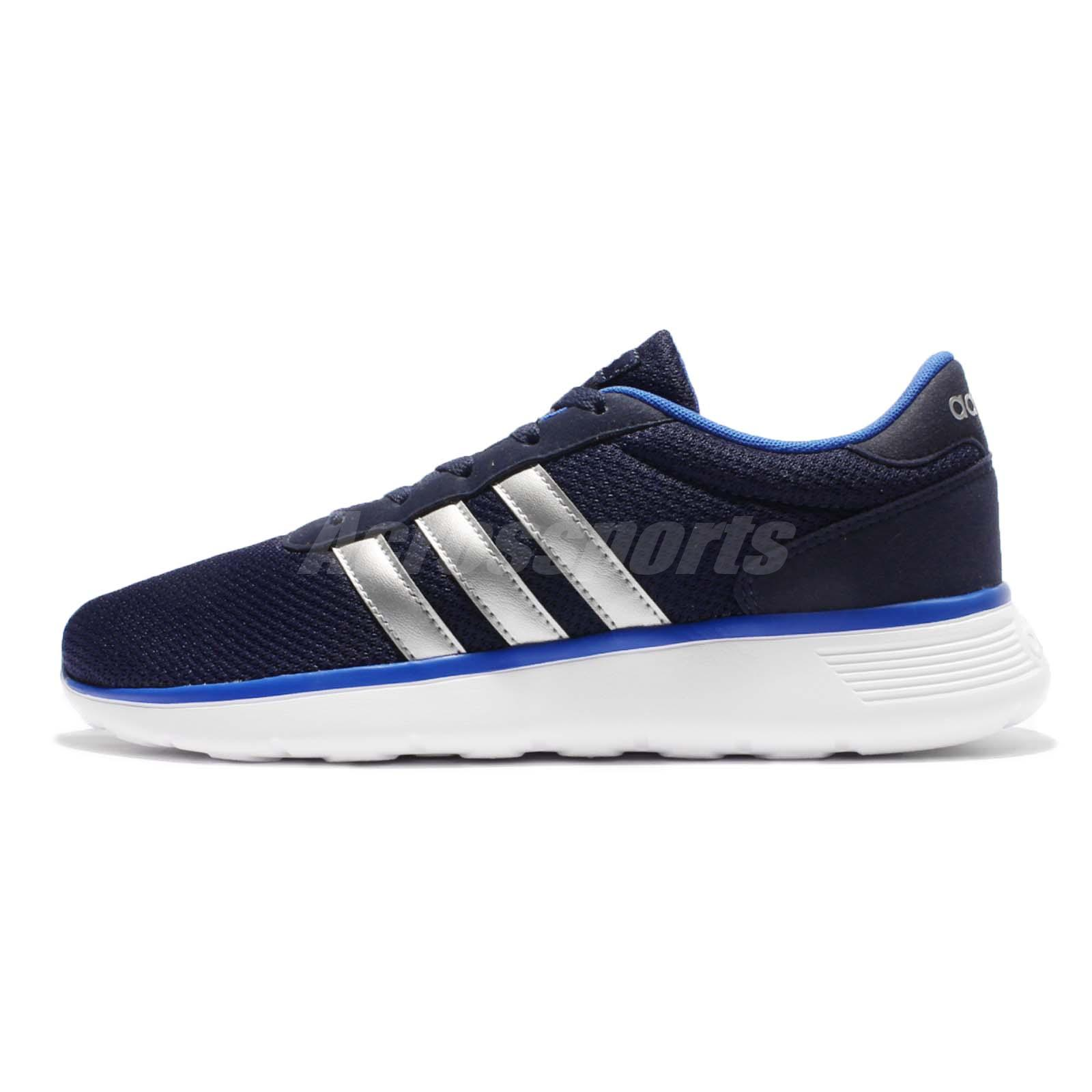 adidas neo label lite racer black silver blue men running. Black Bedroom Furniture Sets. Home Design Ideas