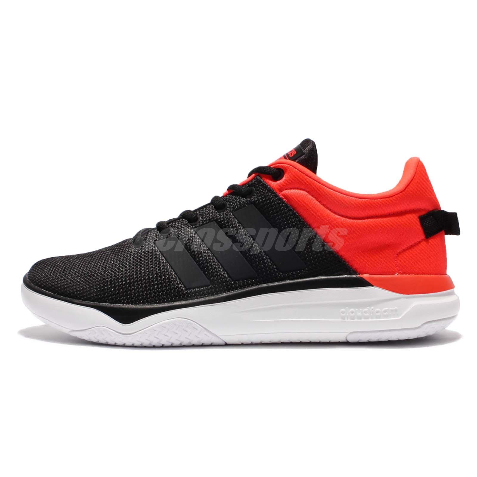 adidas Neo Label Cloudfoam Swish Black Red Men Running Shoes Sneakers AW4078