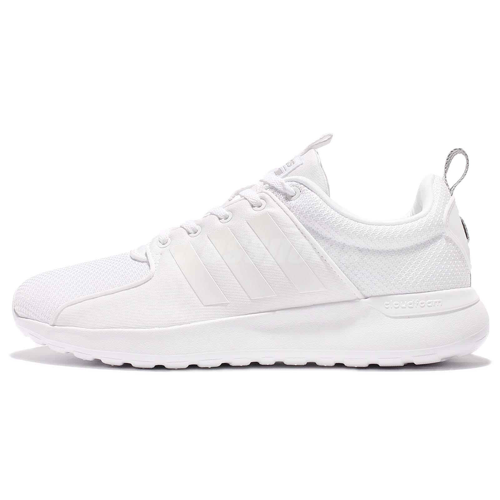 adidas Neo Label Cloudfoam Lite Racer Triple White Men Running Shoes AW4262