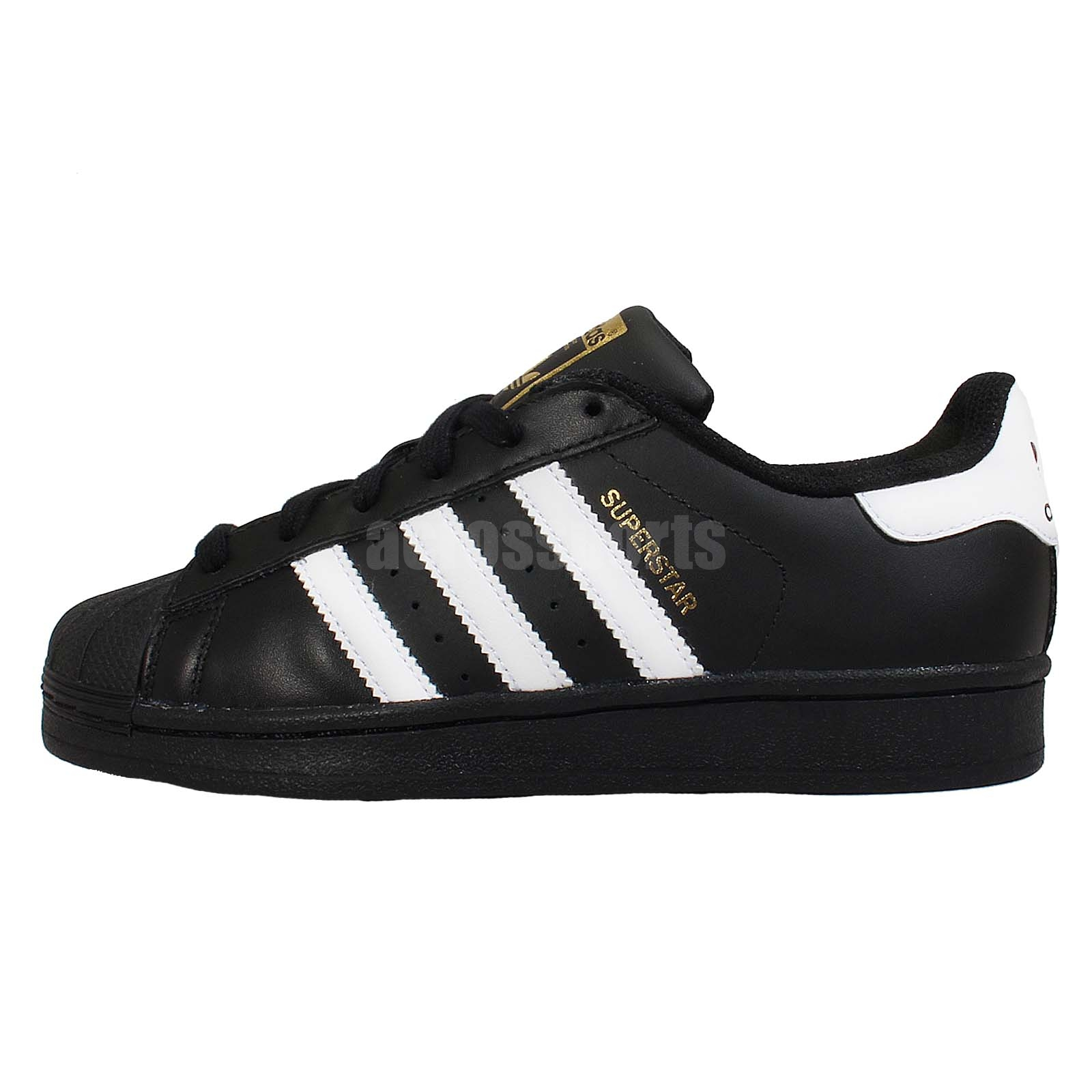adidas originals superstar foundation j black white youth