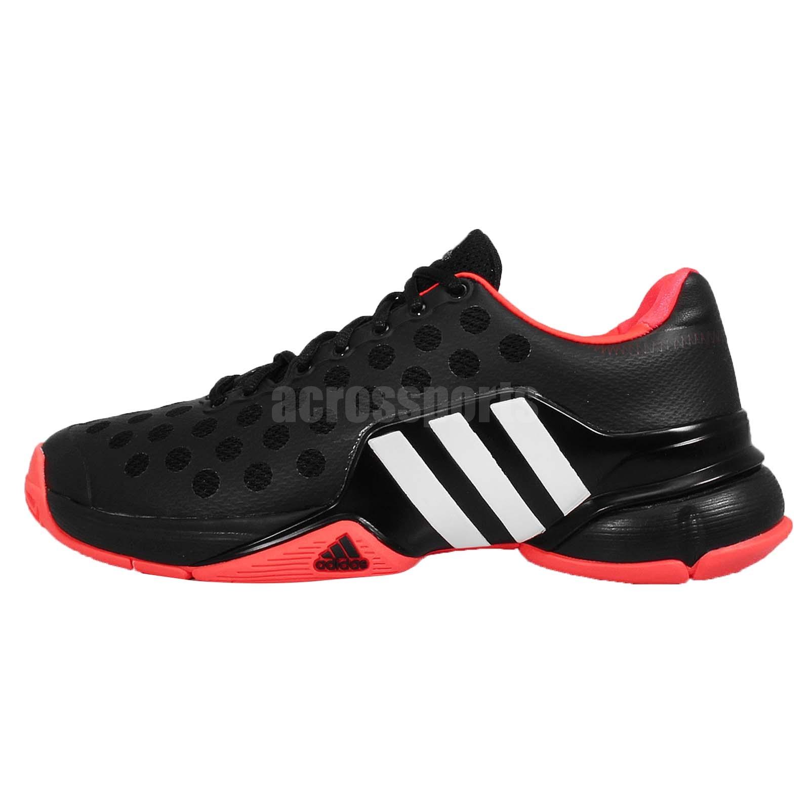 adidas barricade 2015 black white mens tennis shoes