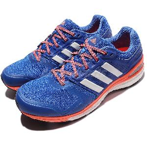 Adidas Supernova Sequence Boost 8 VIII Blue Orange Mens Running Shoes B33622