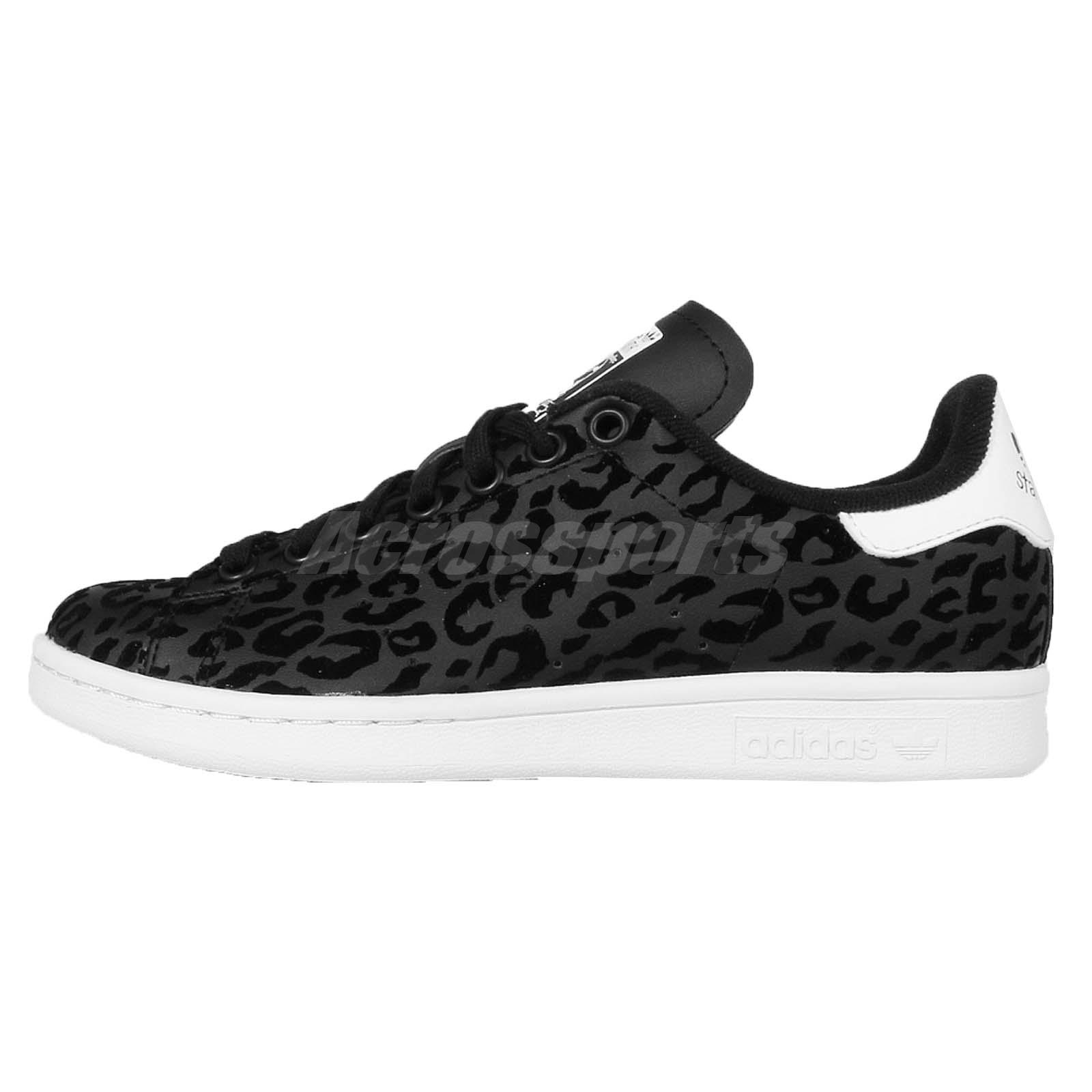 Original  Adidas Originals Stan Smith BlackLeopard Womens Shoes Cheap Sale