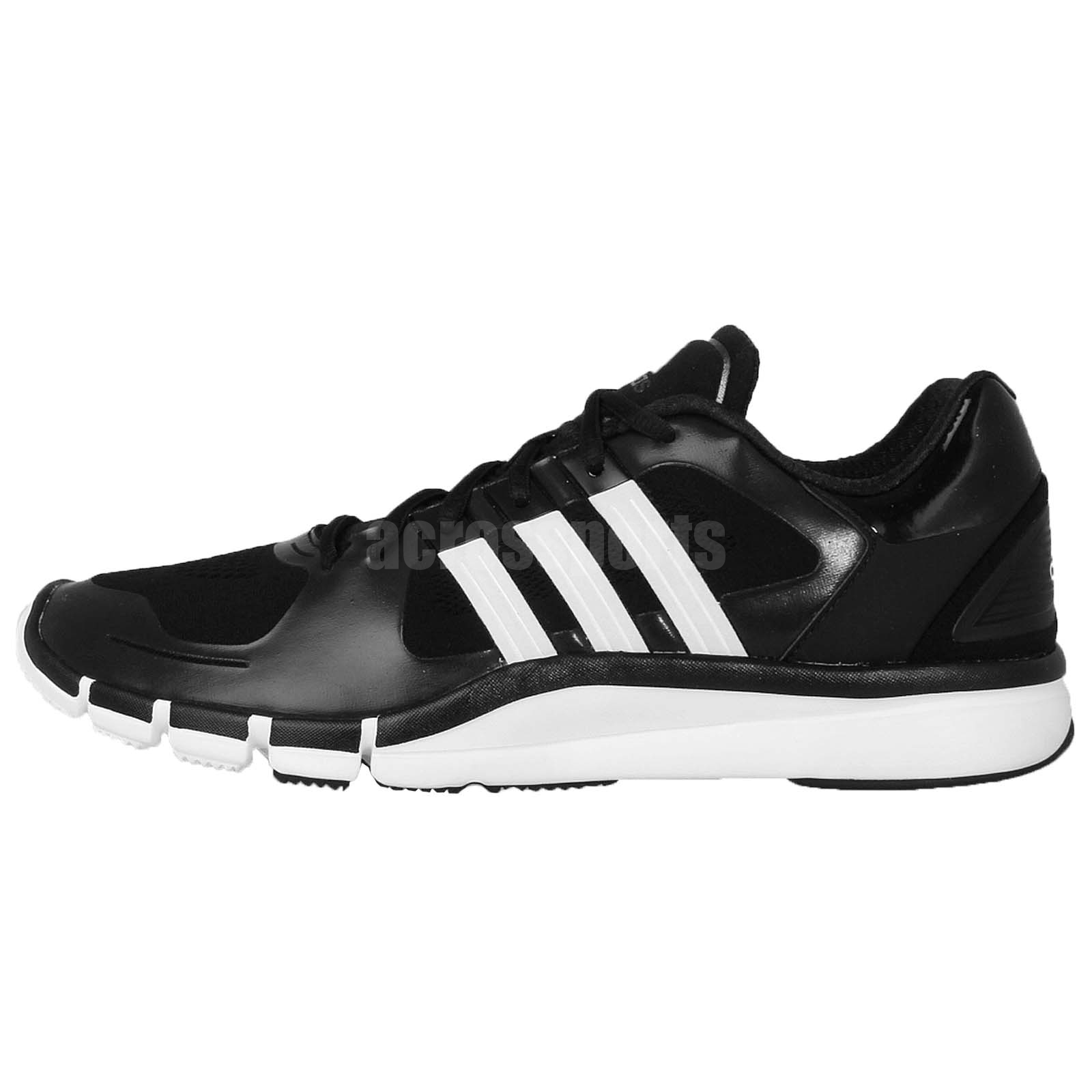 black adidas gym trainers