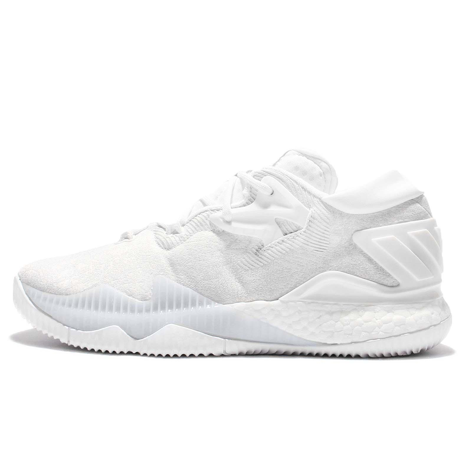 Adidas crazylight boost low 2016 bred black red mens basketball shoes - Adidas Crazylight Boost Low 2016 Triple White Jeremy Lin Mens Basketball B42425