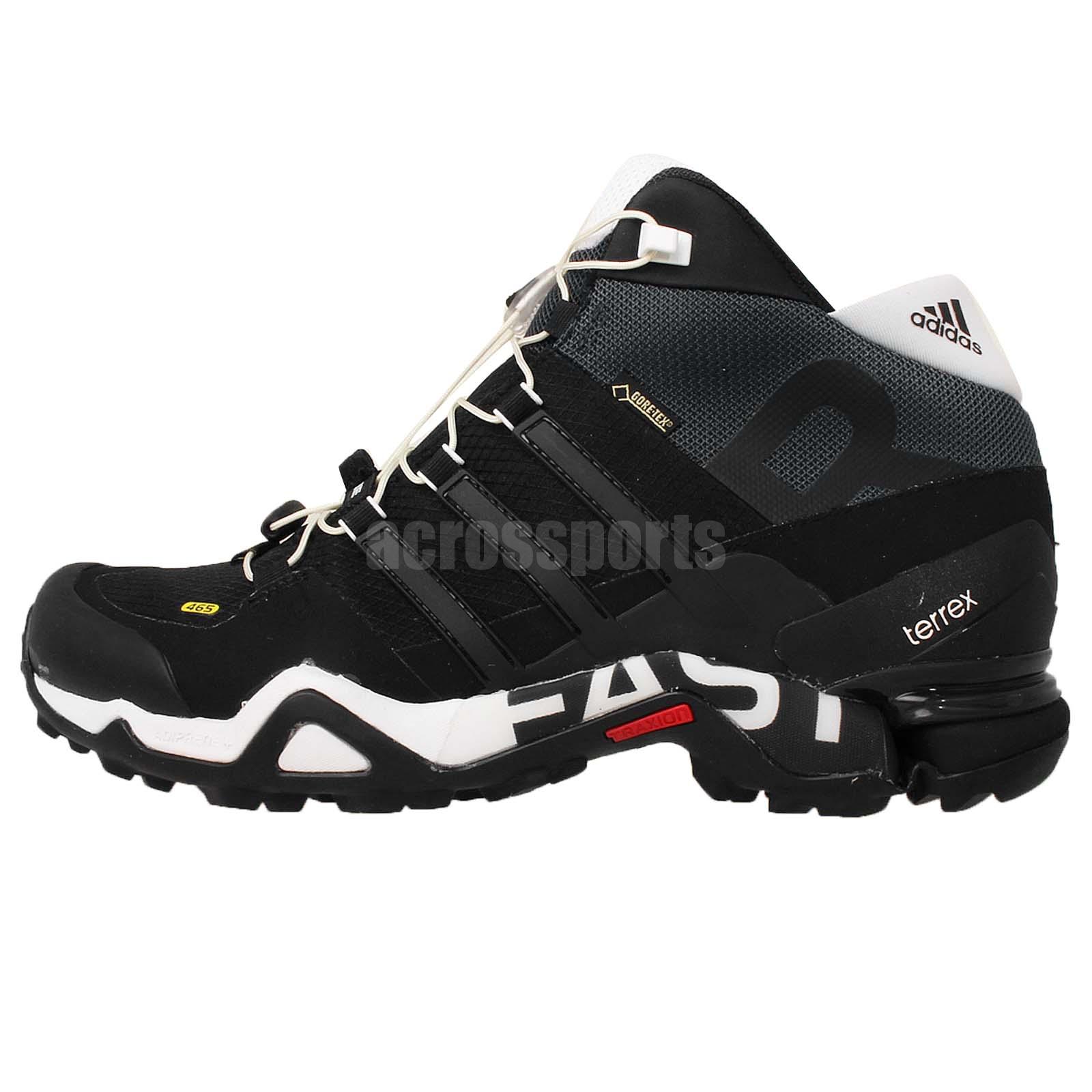 adidas terrex fast r mid gtx gore tex black 2015 mens outdoors hiking shoes ebay. Black Bedroom Furniture Sets. Home Design Ideas