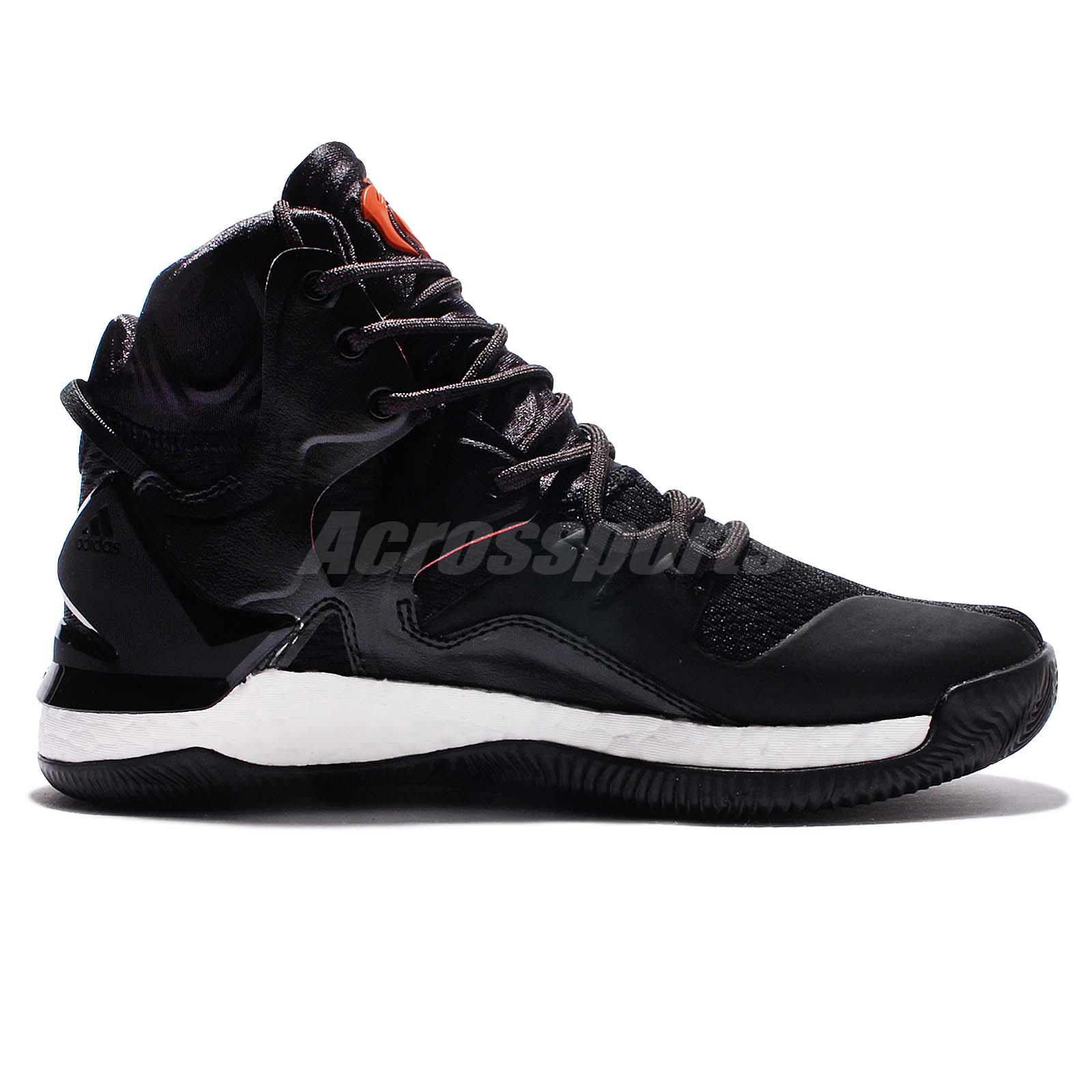 adidas d rose 7 derrick black orange men basketball shoes