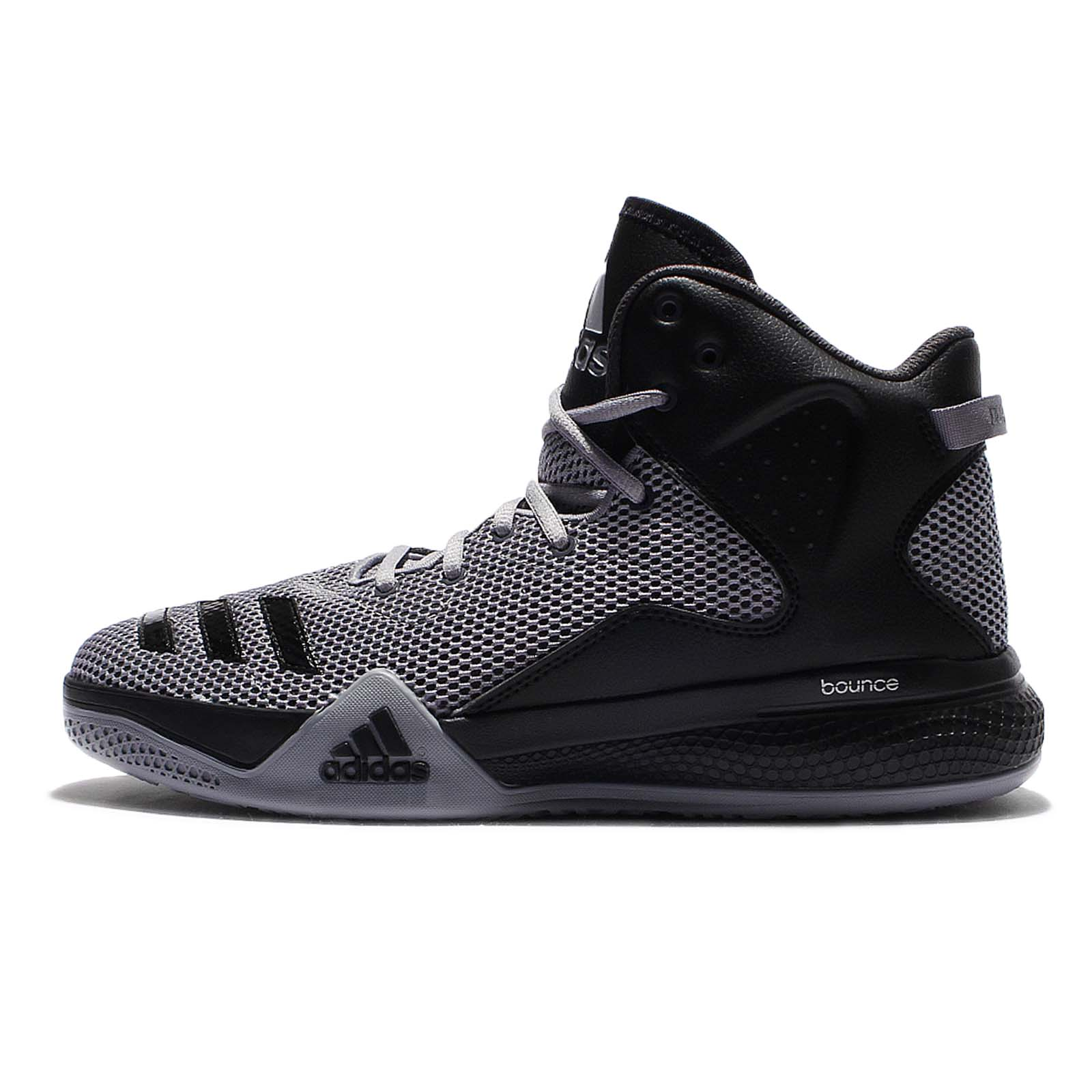 adidas DT BBall Mid Black Grey Mens Basketball Shoes Sneakers B72763