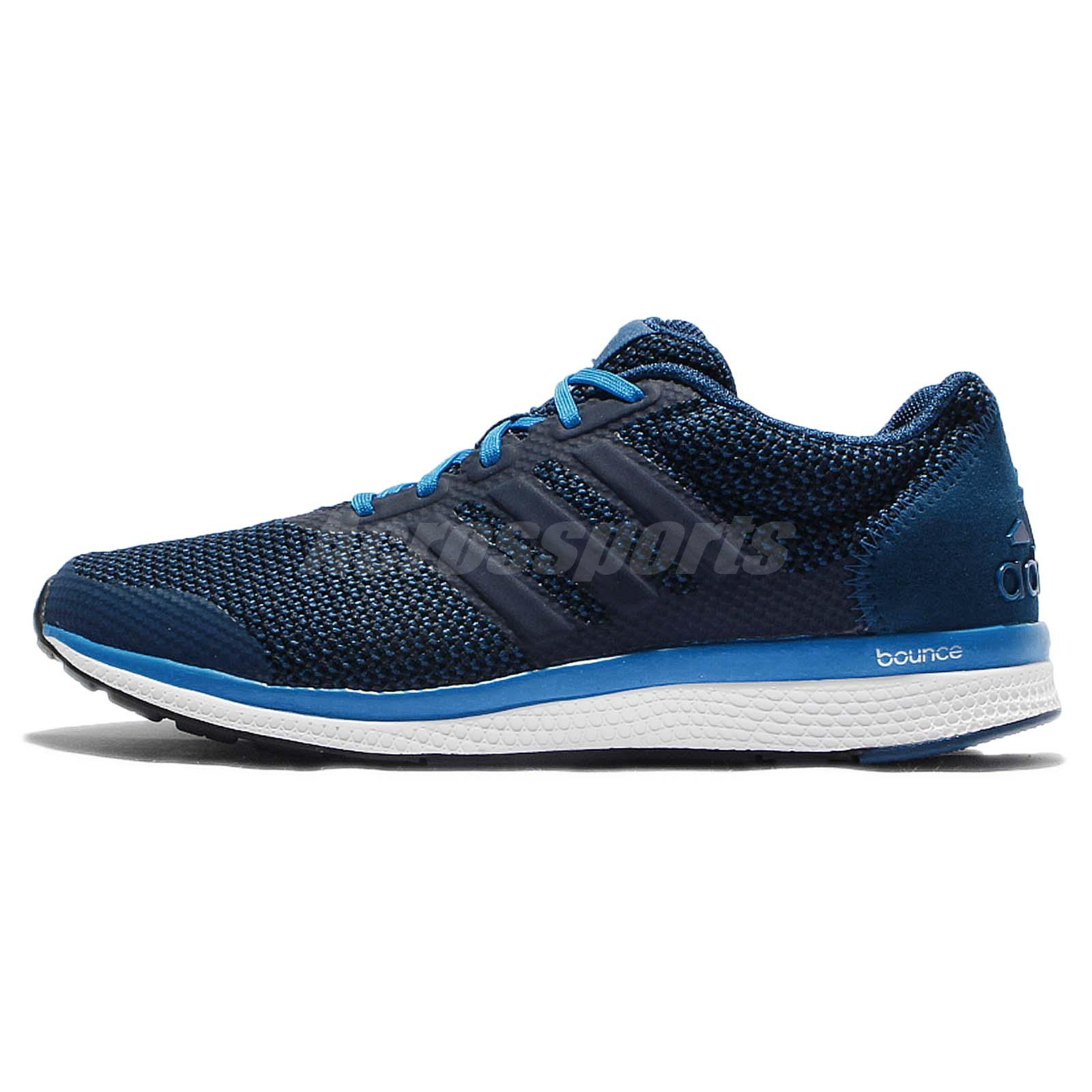 adidas Lightster Bounce M Blue White Blue Mens Running Shoes Sneakers BA8498