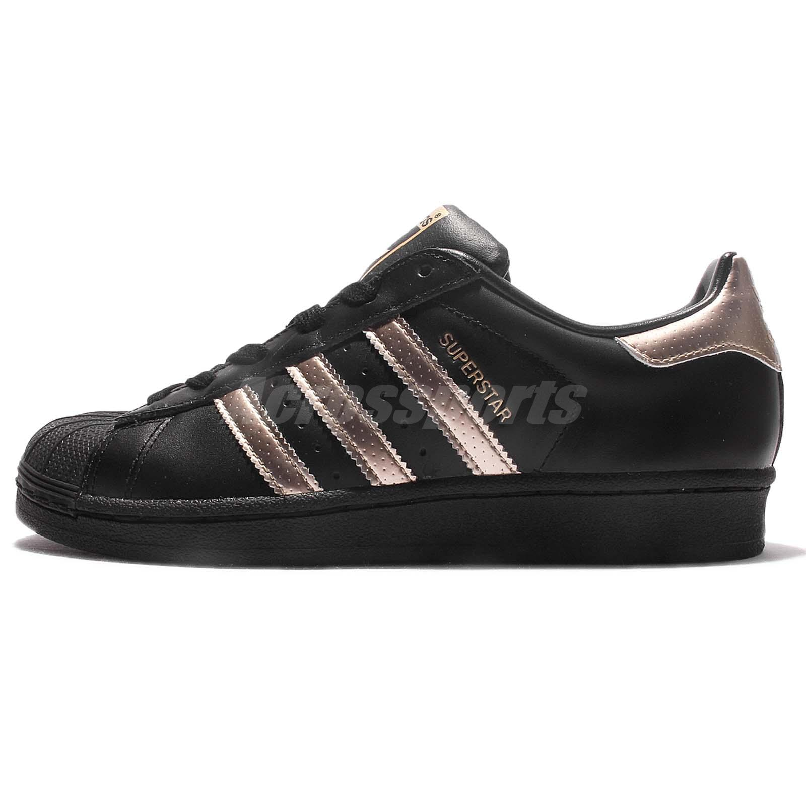 adidas originals superstar w black rose gold women casual. Black Bedroom Furniture Sets. Home Design Ideas