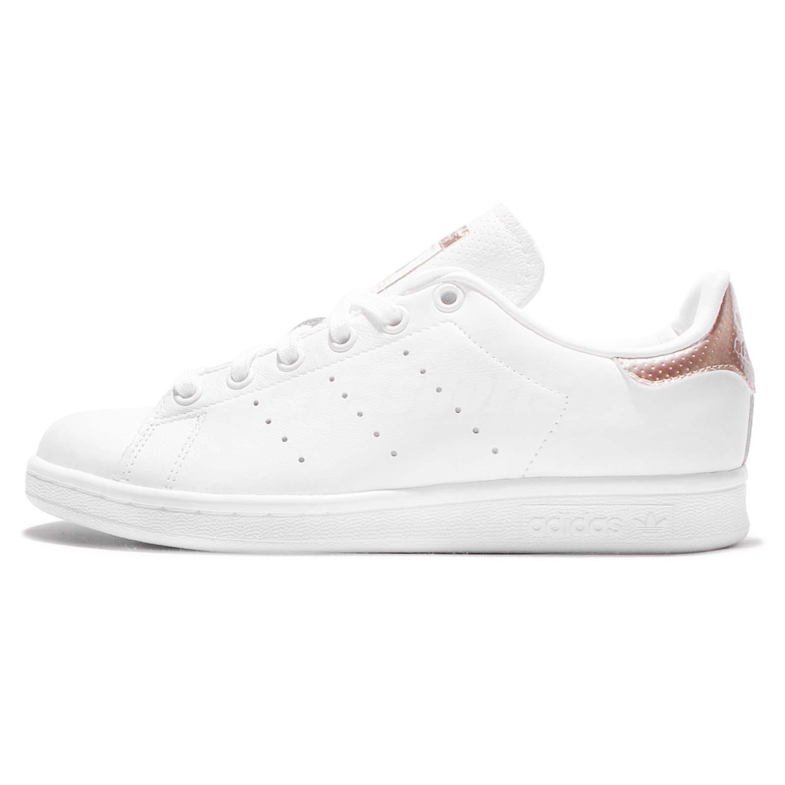 adidas originals stan smith w rose gold white leather women classic shoes bb1434. Black Bedroom Furniture Sets. Home Design Ideas
