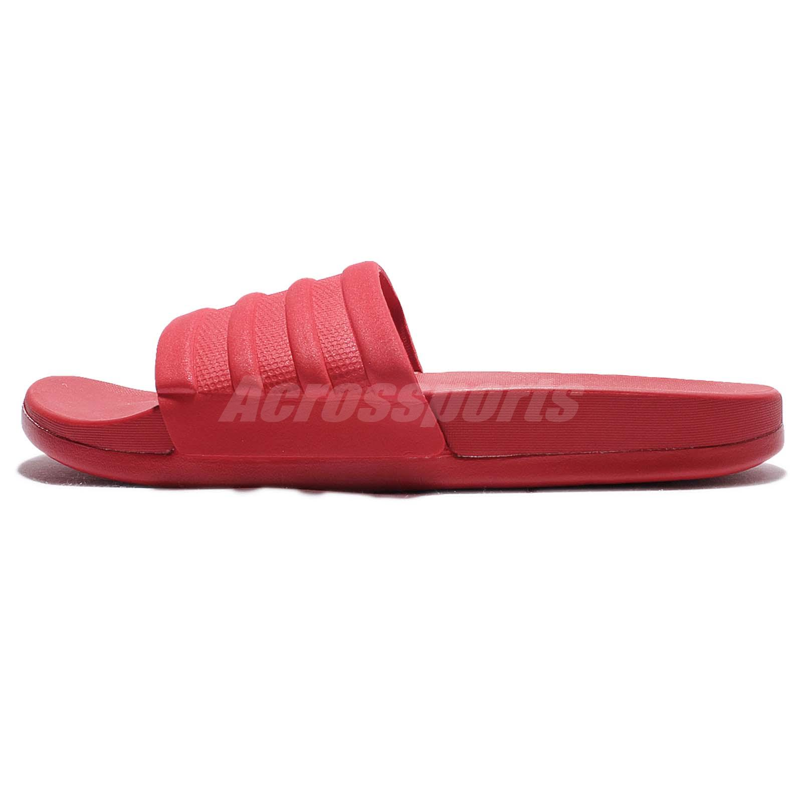 adidas Adilette CF Mono W Cloudfoam Plus Red Women Sandal Slides Slippers BB4541