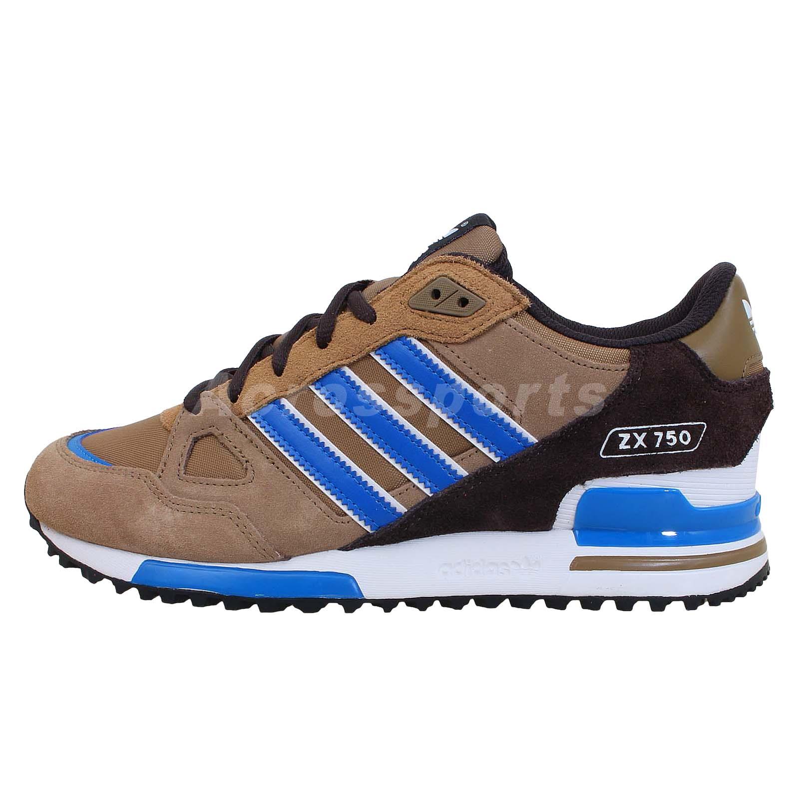 adidas originals zx 750 brown blue black 2014 mens retro