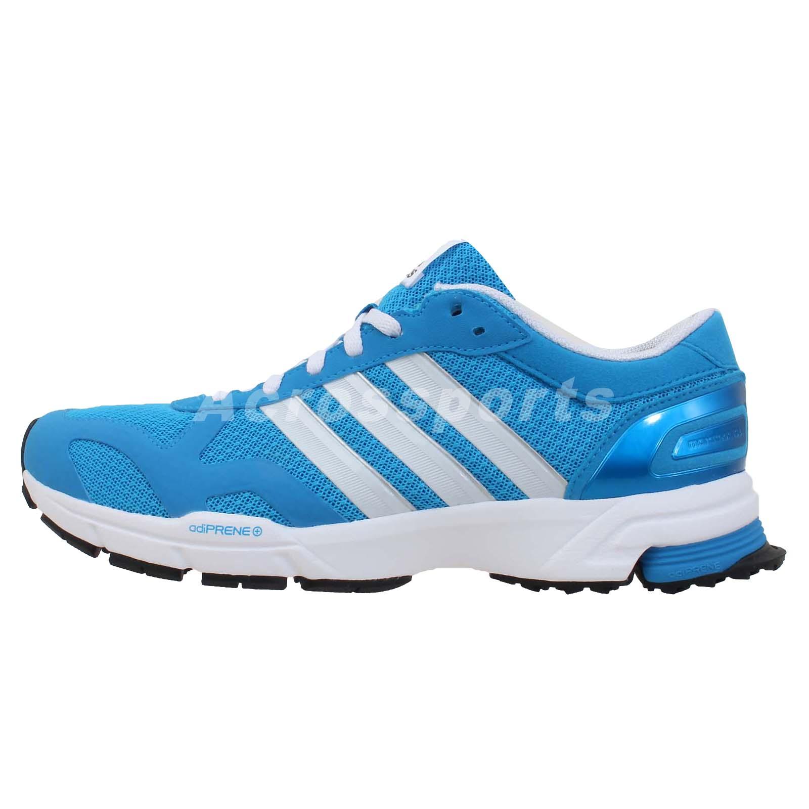adidas marathon 10 ng w blue white womens racing running