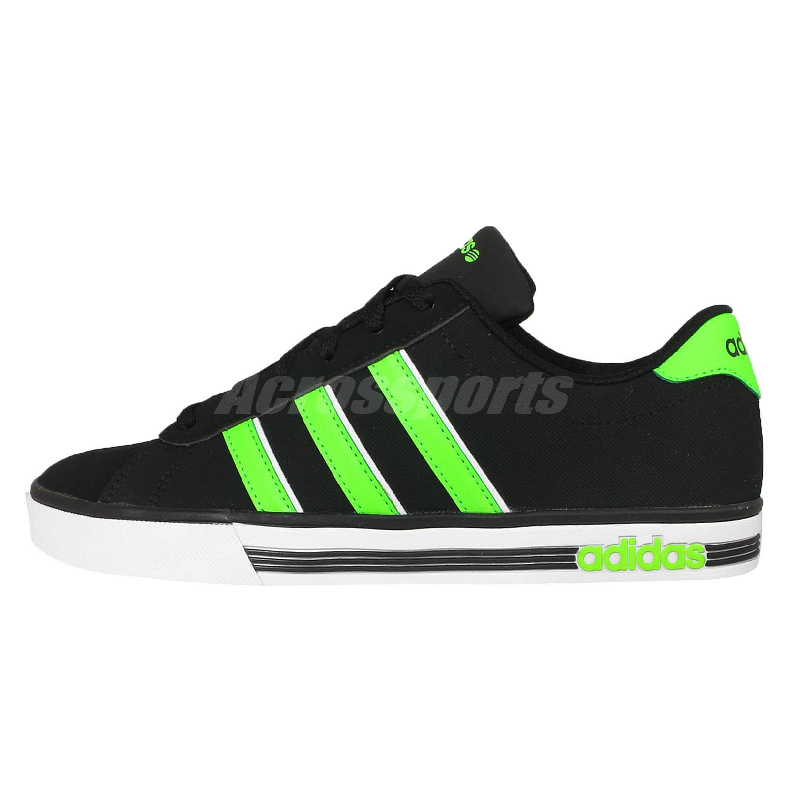 Adidas Neo Label Daily Team Black Green Mens Casual Shoes Sneakers F98348