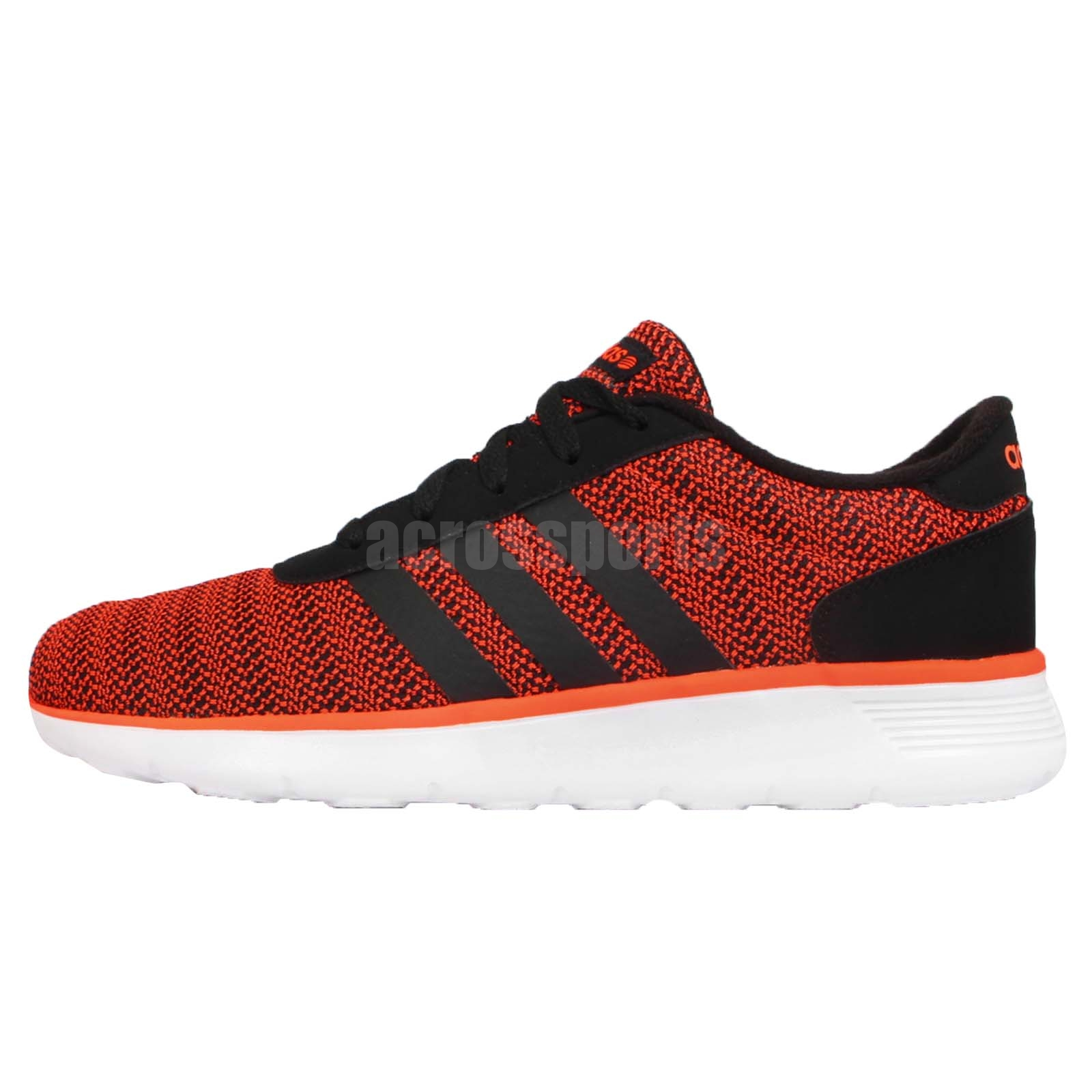 adidas neo label lite racer black red white mens light. Black Bedroom Furniture Sets. Home Design Ideas