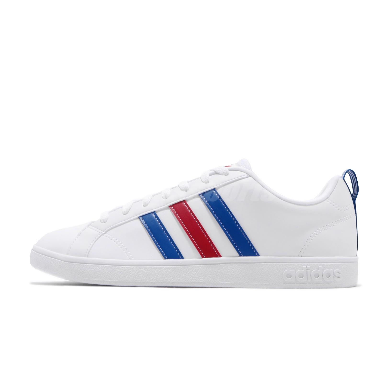 adidas neo label vs advantage white red blue mens shoes. Black Bedroom Furniture Sets. Home Design Ideas