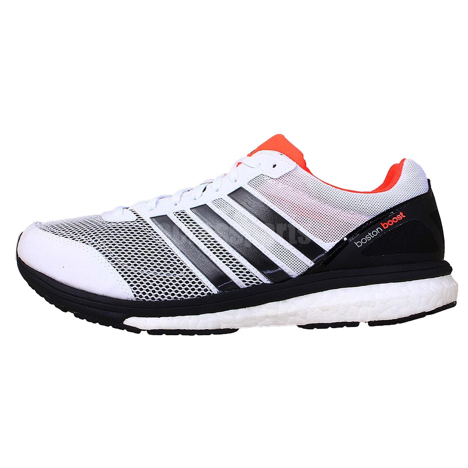 adidas adizero boston boost 5 wide white black 2014