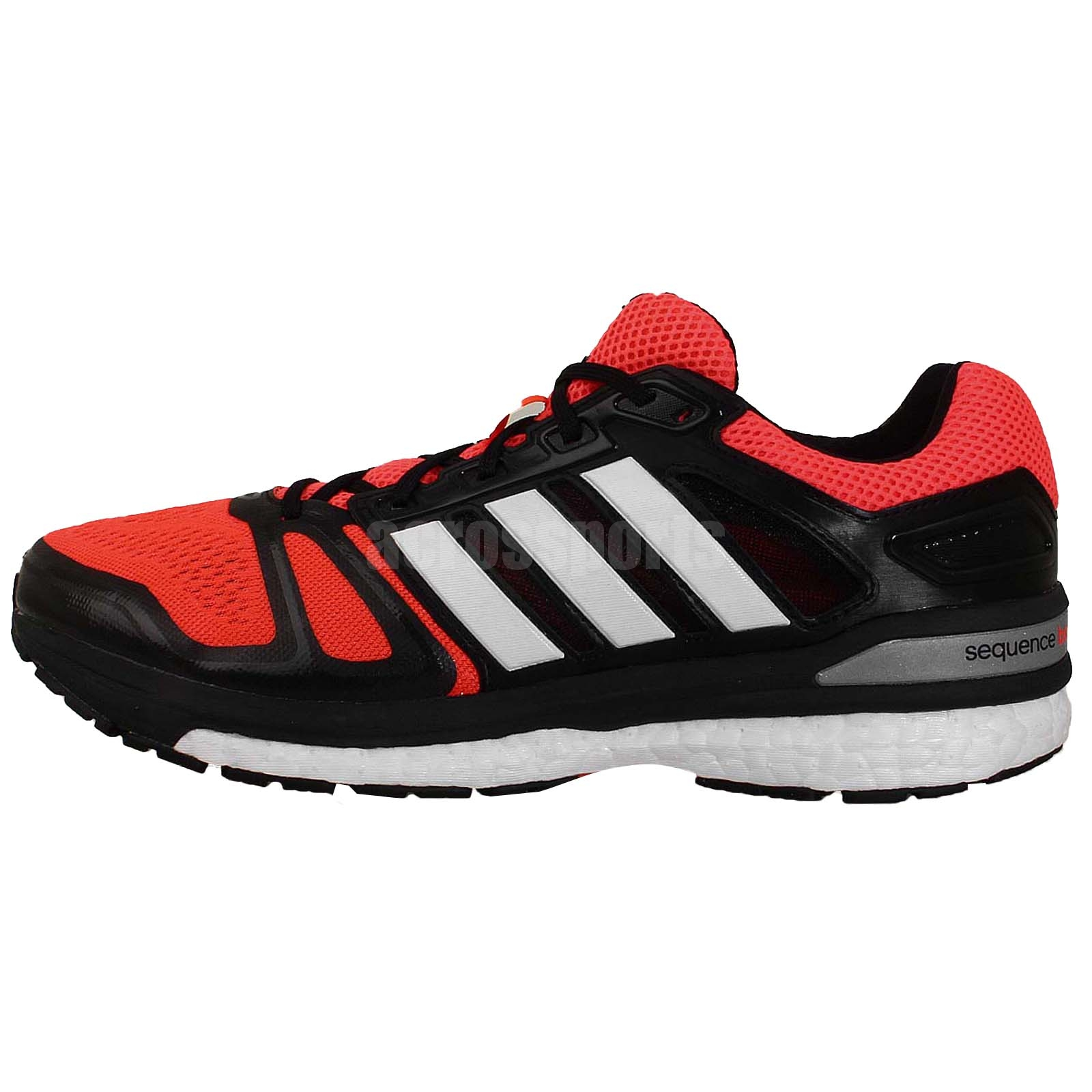 adidas supernova sequence 7 m boost red black white mens. Black Bedroom Furniture Sets. Home Design Ideas