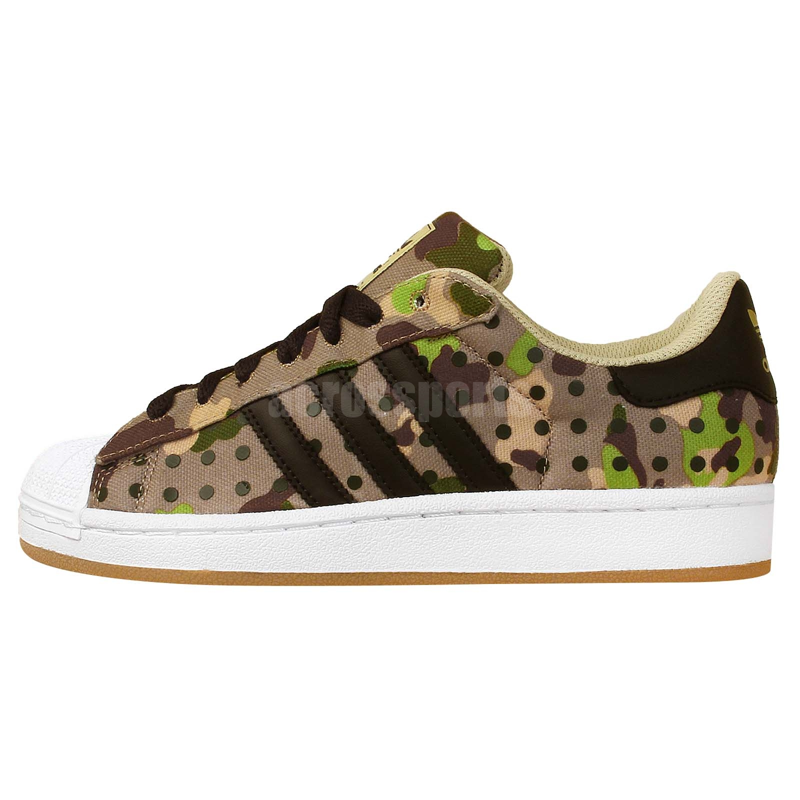 adidas superstar ii camouflage camo polka dot mens casual. Black Bedroom Furniture Sets. Home Design Ideas