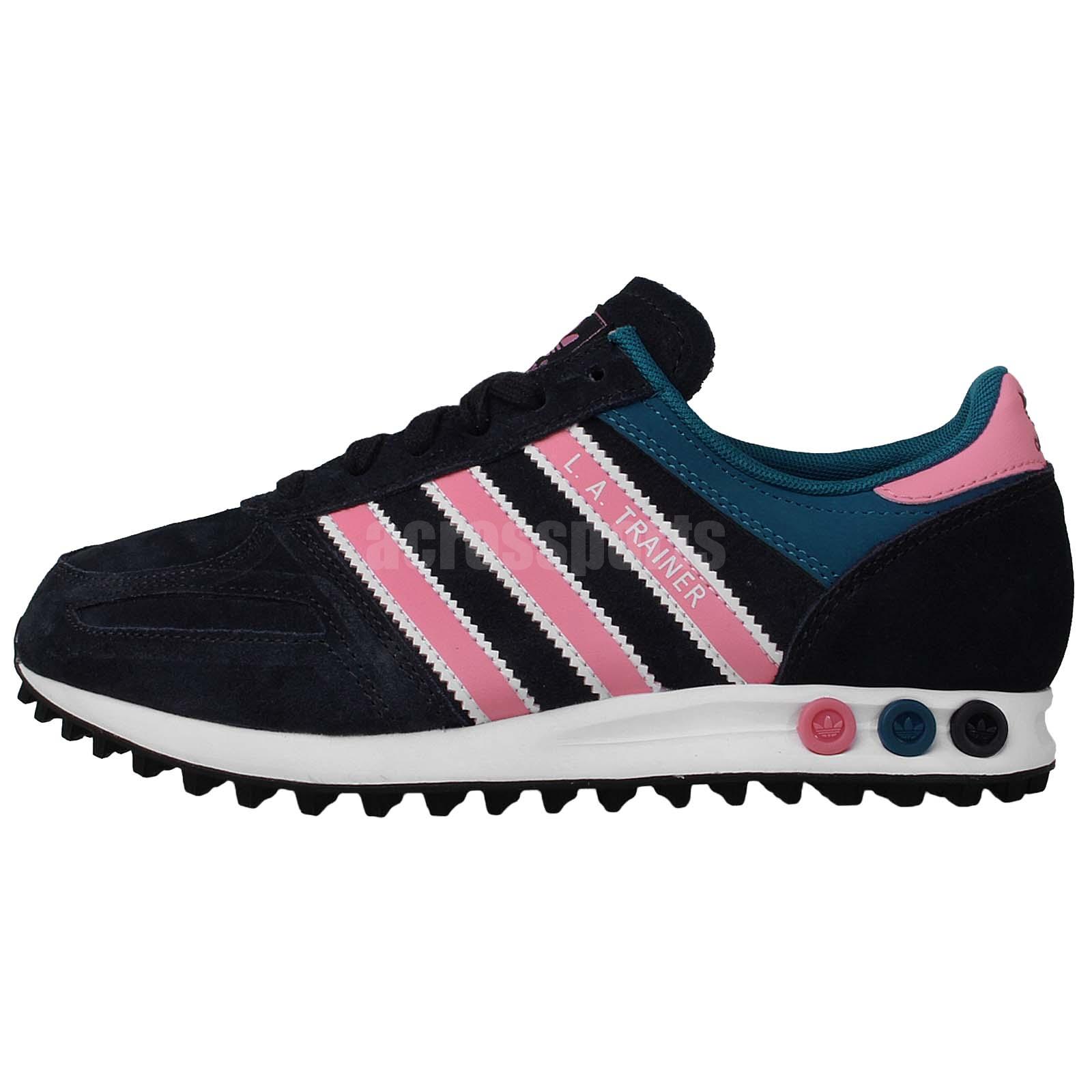 Adidas Originals LA Trainer W Navy Pink Womens Retro Running Casual Shoes M20869