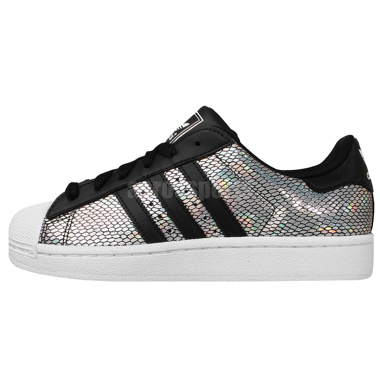 Adidas Originals Superstar 2 W Silver Holographic Black ...