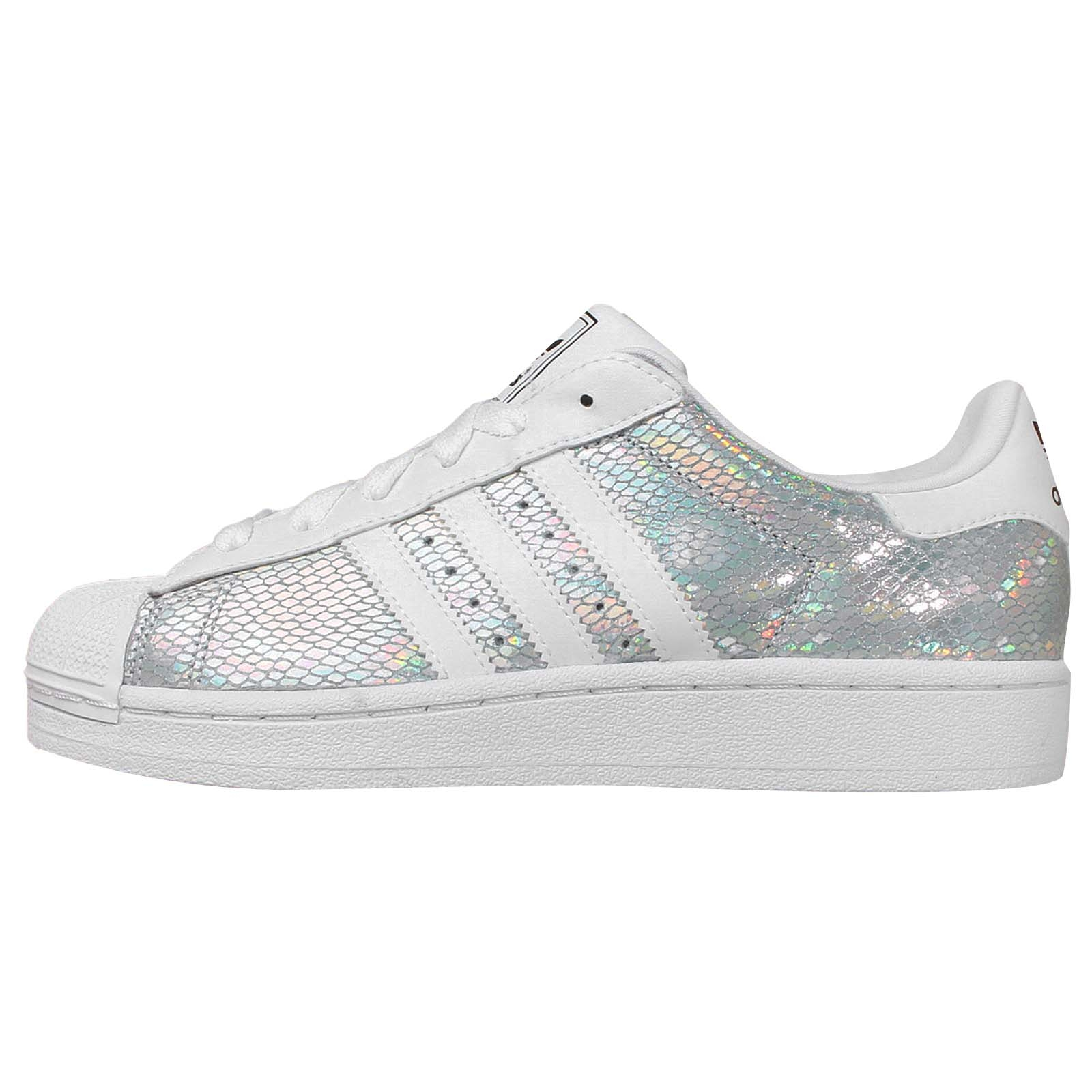 Adidas Originals Superstar 2 W Silver White Womens Casual ...