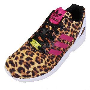 new adidas zx flux torsion leopard print animal womens trainers