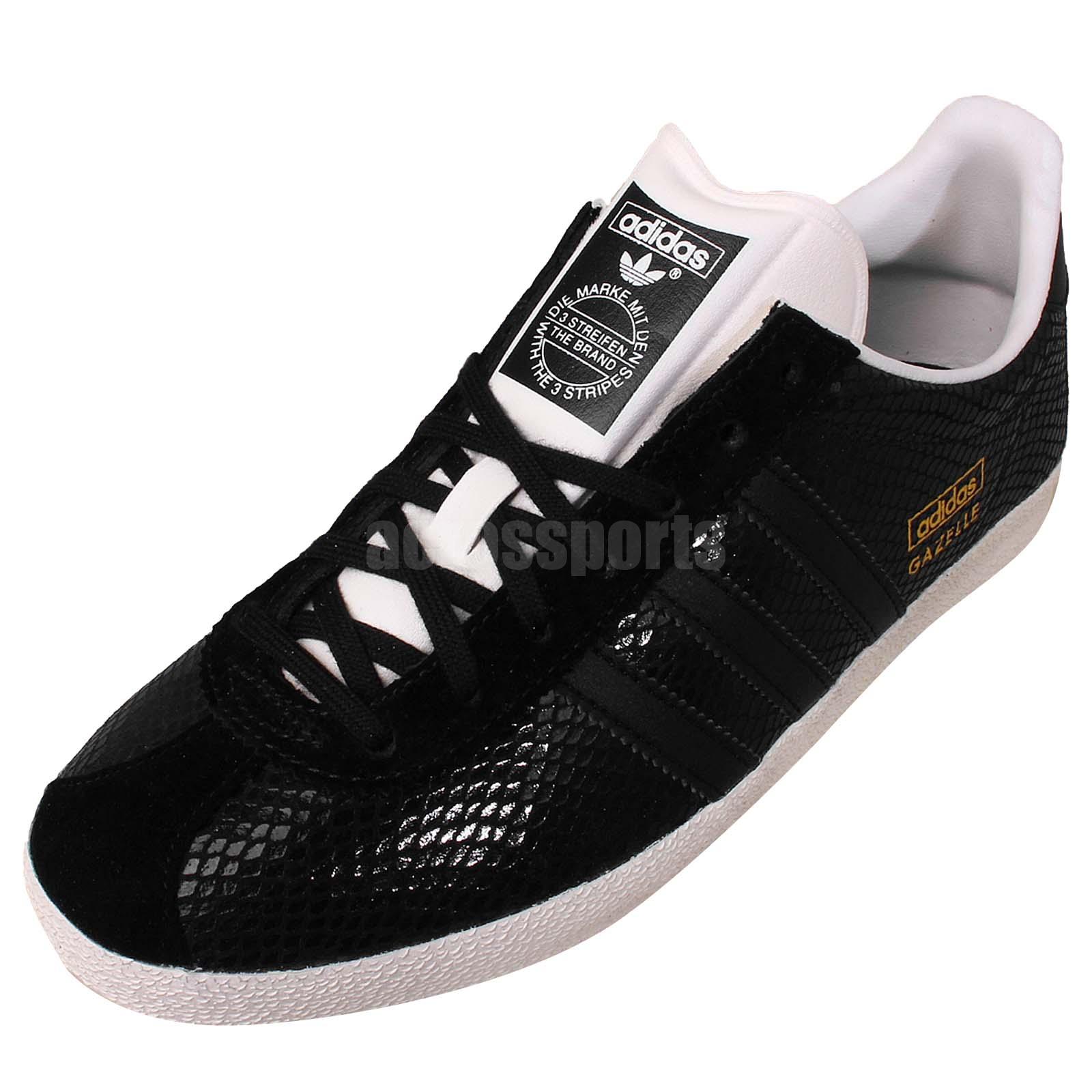adidas gazelle og black snake