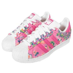Cheap Adidas Superstar GS Blanco Nube Rosa Floral Juniors para