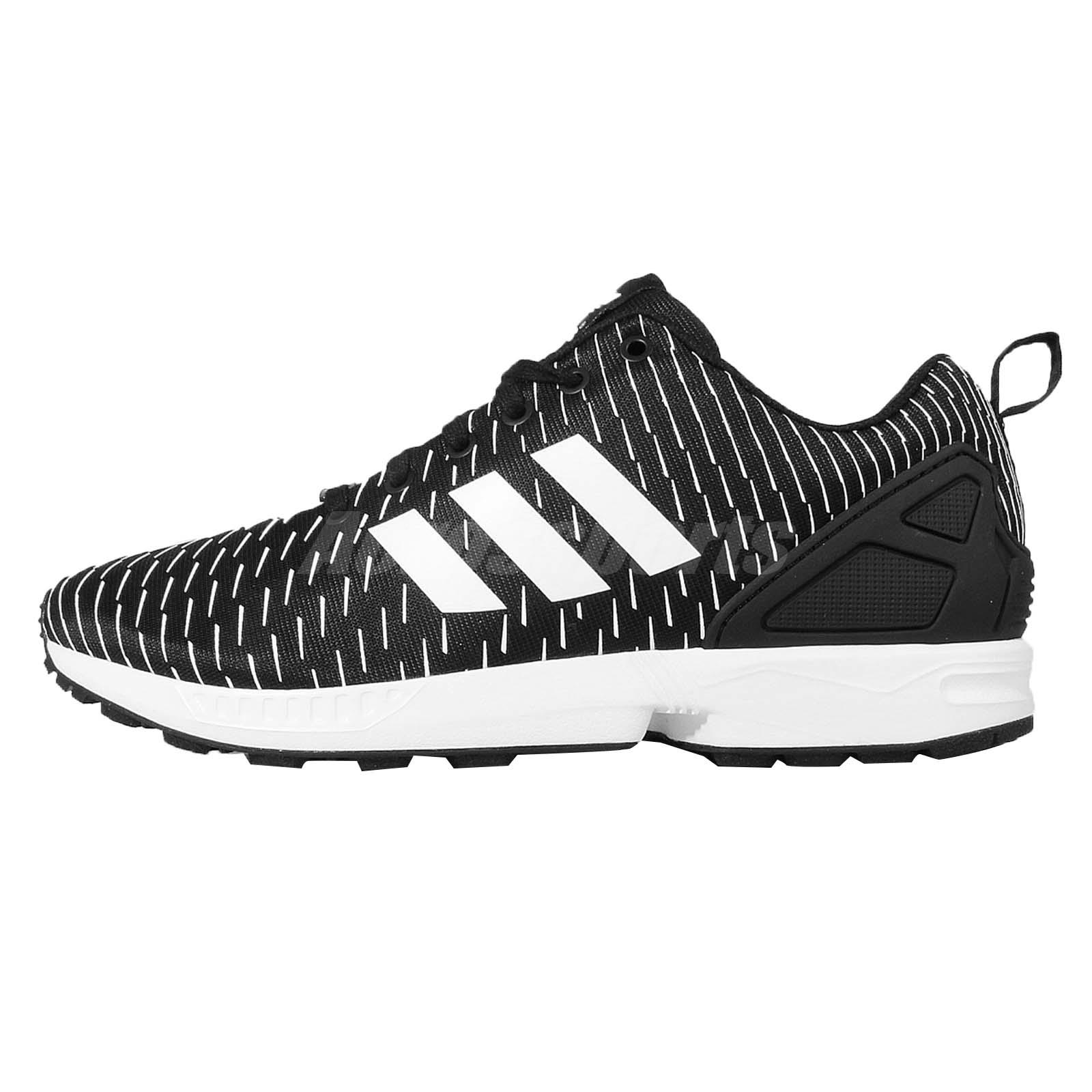 Adidas Zx Flux Black With White Stripes