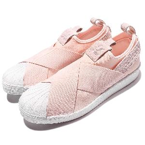 adidas superstar slip on womens Pink