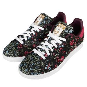 Stan Smith Black Flower