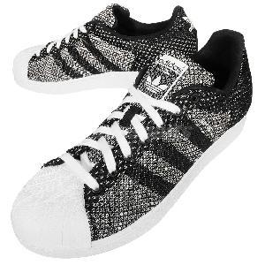 adidas superstar weave black white