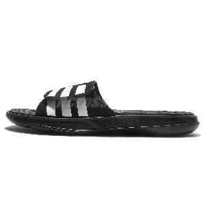 adidas black and white slides