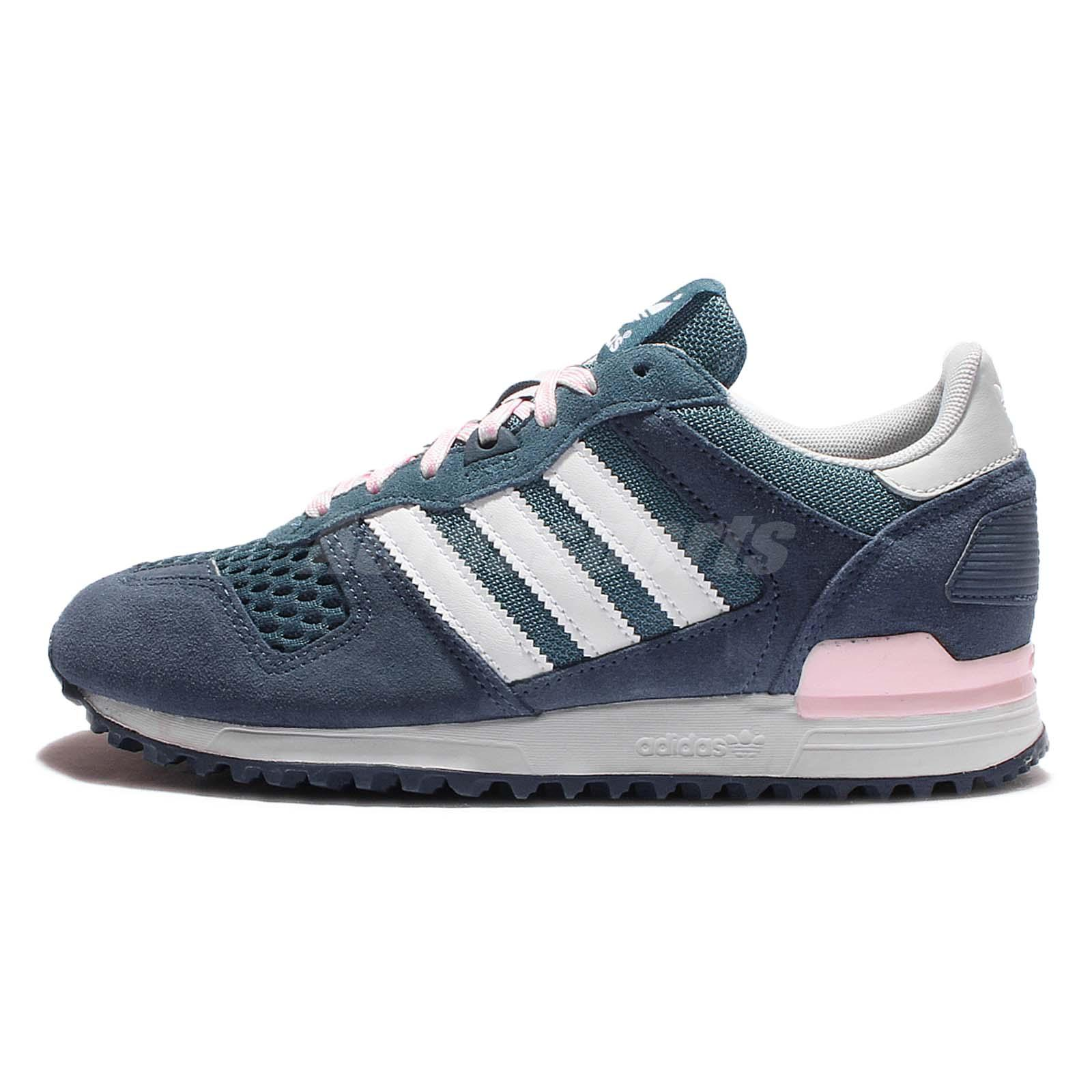 adidas Originals ZX 700 W Blue White Pink Suede Womens Trainers Sneakers S78940