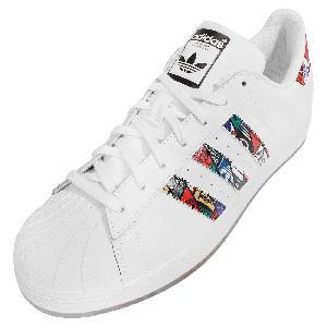 adidas originals superstar tongue label white mens casual