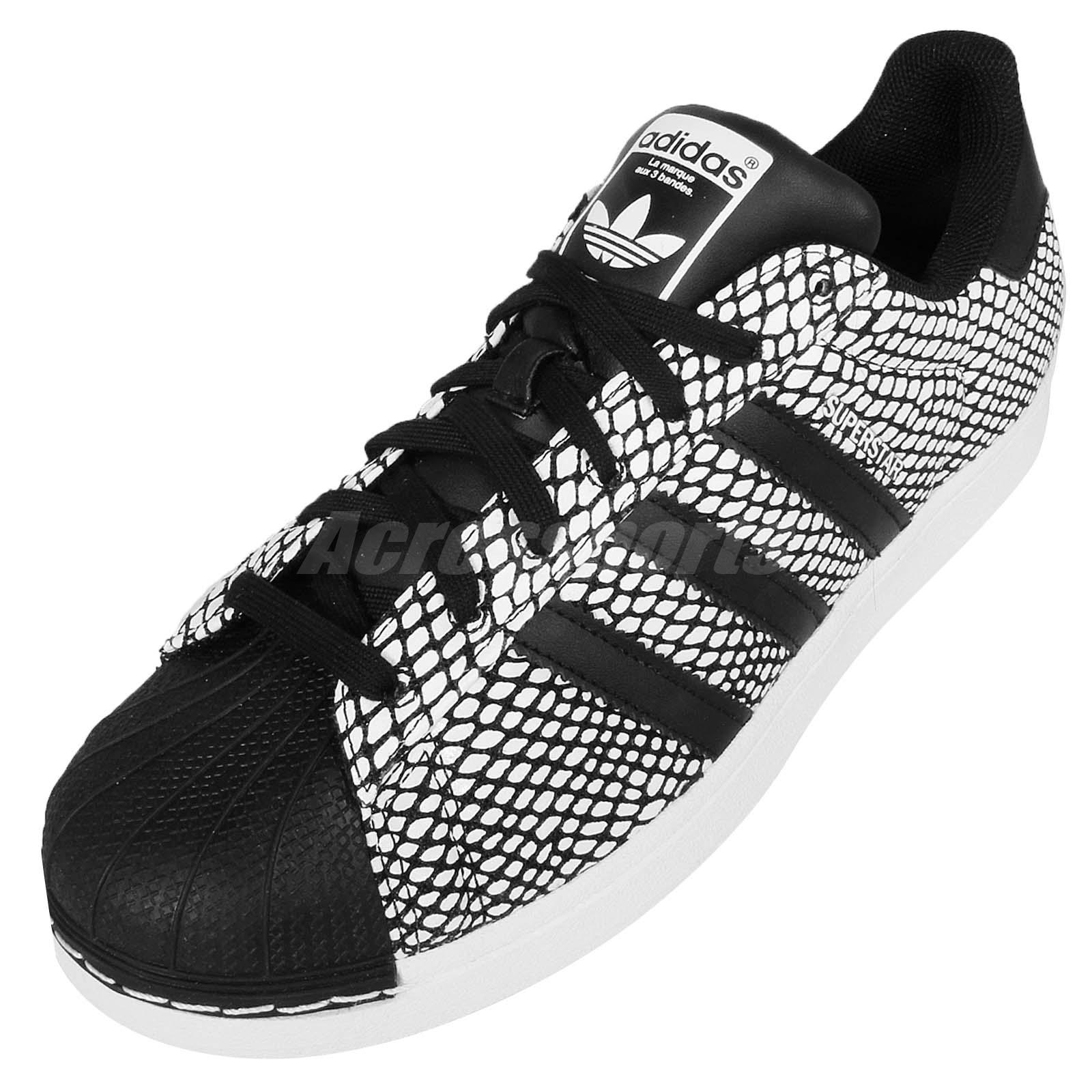 adidas Superstar Snake Pack Black White Snakeskin Classic Shoes Sneakers S81728