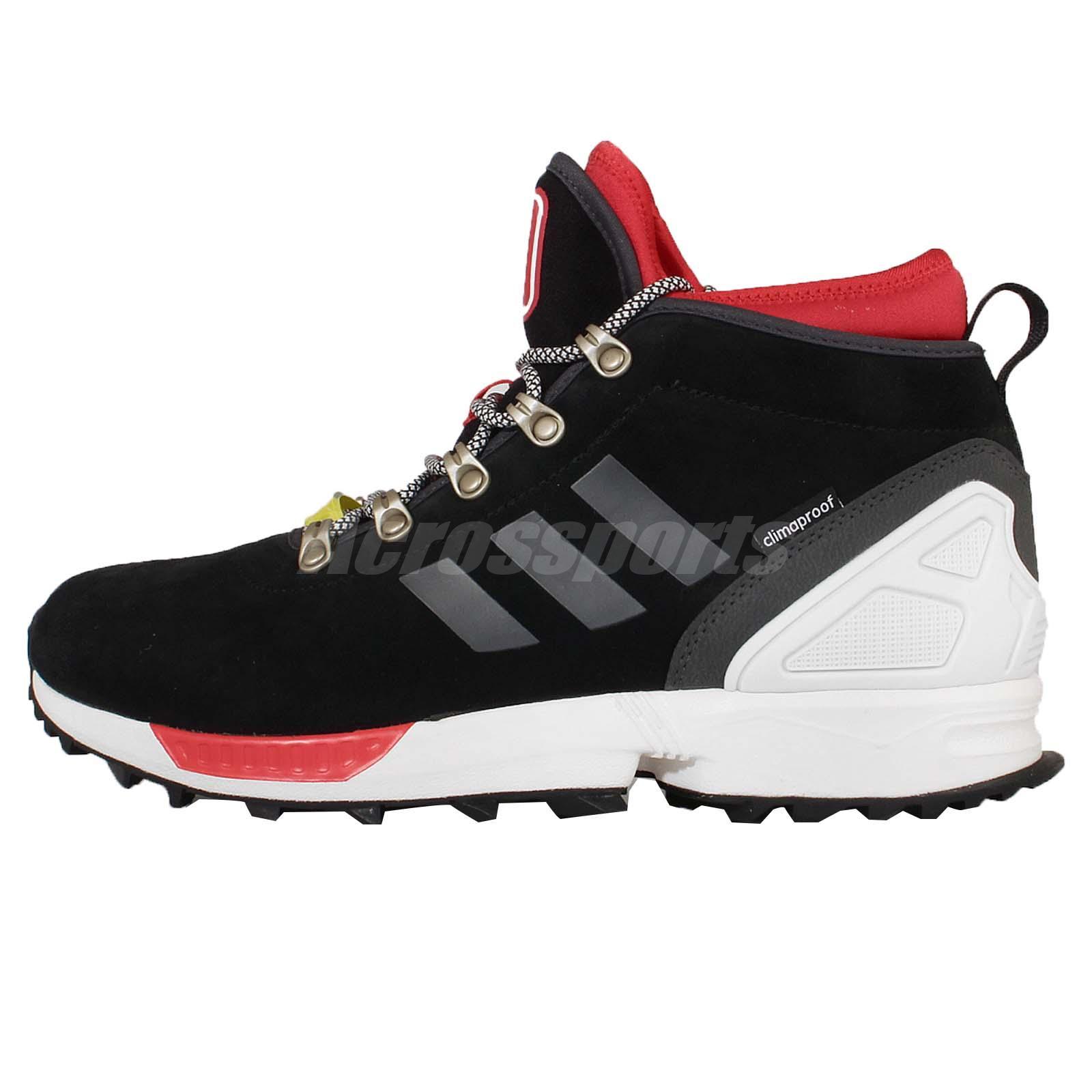 adidas originals zx flux winter black red mens running. Black Bedroom Furniture Sets. Home Design Ideas